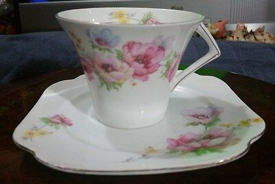 Vintage Genuine Colclough Bone China Cup & Saucer 4534, Longton England