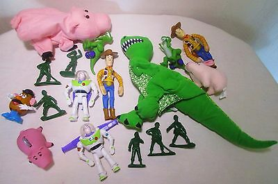 Burger King Happy Meal Disney Pixar Toy Story Woody Rex Action Figures Toys Lot