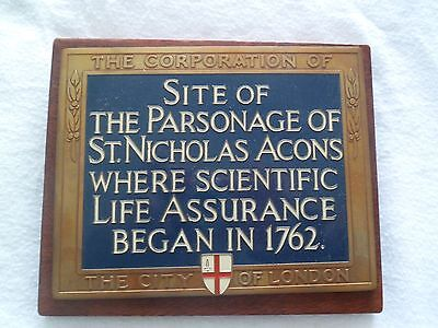 A RARE Equitable Life Assurance Society paper weight