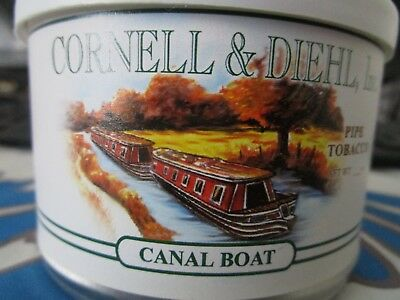 RARE:   Cornell & Diehl Canal Boat Pipe Tobacco Tin  2 Oz Sealed