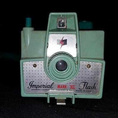 Vintage Mint Green Imperial Mark XII Flash Camera Made IN USA