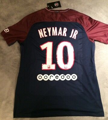 PSG Home Football Shirt 2017/2018 Brand New With Tags NEYMAR JR 10 Large