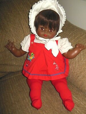 HTF Vogue 1965 baby doll DEAR ONE AFRICAN AMERICAN  22'  cloth body MINT LOVELY