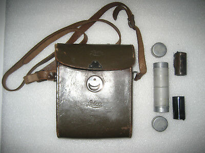 Vintage Leitz / Leica Camera Case + Double Film Canister + 2 Re-Loadable Cassett