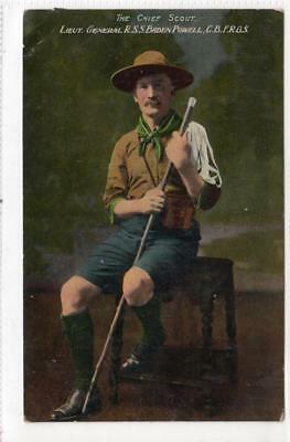 THE CHIEF SCOUT - BADEN POWELL: Boy Scout postcard (C31689)