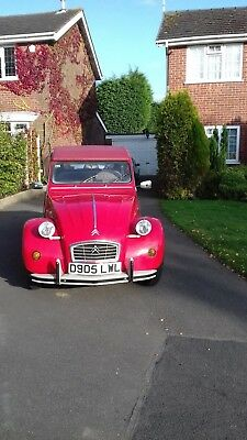 1986Citroen 2CV Sunset Red with Gavanised Chassis and Full MOT Low Mileage