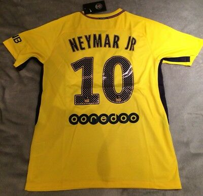 PSG Away Football Shirt 2017/2018 Brand New With Tags NEYMAR JR 10 Small