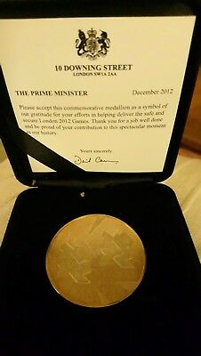 commemorative medallion from London Olympics 2012