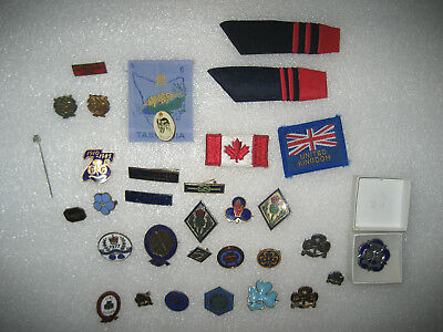 Job Lot of Vintage Girl Guides Badges And Patches, Job Lot of 33 Various.