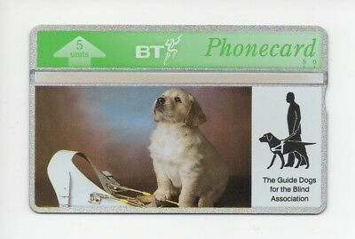 BT Phonecard BTG090, The Guide Dogs for the Blind Association, mint unused