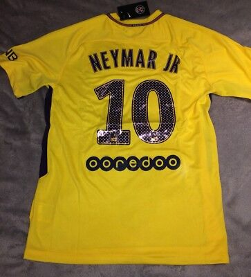 PSG Away Football Shirt 2017/2018 Brand New With Tags NEYMAR JR 10 Large