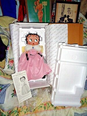 "New Betty Boop""belle Of The Ball""15"" Porcelain Doll/figurine-Danbury Mint-Sweet"