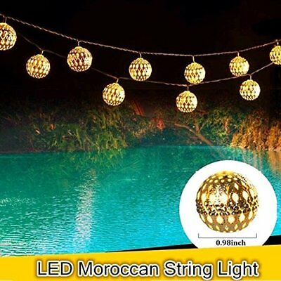 Superbe 48FT Waterproof Outdoor Commercial Grade Patio Globe String Lights 15 Bulbs