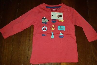 sprout little pirate top size 000 bnwt