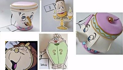 Disney Mrs Potts Tea Pot Chip Cup Cogsworth Lumiere Wardrobe Coin Purse Primark