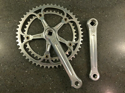 CAMPAGNOLO SUPER RECORD STRADA 1049/A VINTAGE CHAINSET 52/42 170mm 1980s *VGC*