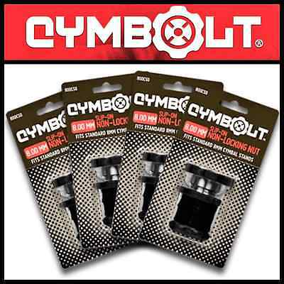 Cymbolt 8mm 4Pack Slip Fit Non locking Cymbal Bolt Fits Gretsch Harware New