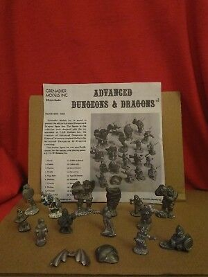 VTG Grenadier TSR AD&D Advanced Dungeons and Dragons Monsters 5002 Miniatures