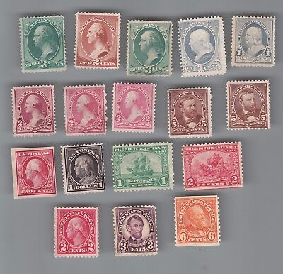 U.S.A. : Pretty Nice Lot of Old stamps all Mint no gum...2 scans