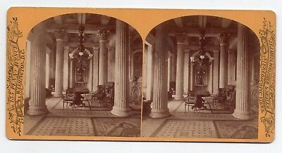 Washington D C Stereoview Marble Room Senate By Jarvis 1870s