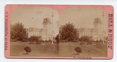 Washington D C Stereoview Soldiers Home Bell & Bro c1870