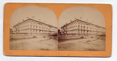 Washington D C Stereoview Post Office Dept By Bell & Bro 1860s