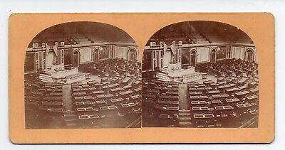 Washington D C Stereoview House of Representatives By Bell & Bro 1860s