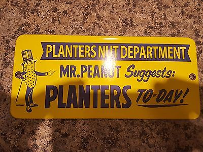 Planters Nut Department Porcelain Sign Very Nice Must See