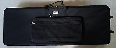NEW! Gator GK Lightweight Keyboard Case on Wheels Slim 88 Key Luggage Travel