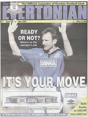 8 issues The Evertonian Issue 30-37 -1997 - Everton newspaper