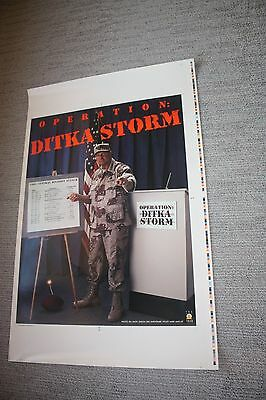 Mike Ditka Poster-Operation Ditka Storm-1991 Central Division Attack-Rare