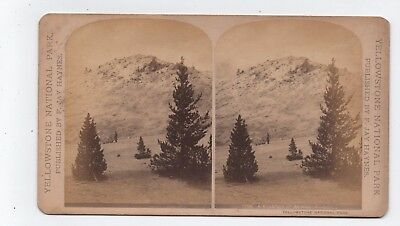 Wyoming Stereoview Yellowstone National Park By Haynes c1880 #8