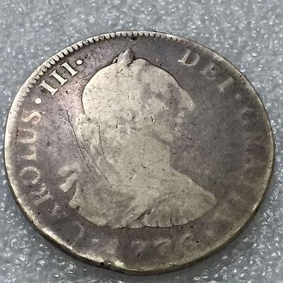 1776 Colonial Times  Spain - Silver 4 Reales - 1776