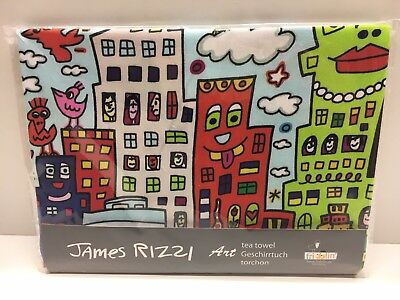 James Rizzi Geschirrtuch 45 x 65 cm My New York City Neu 1.Wahl