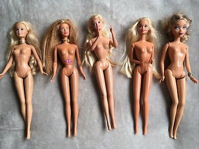 Barbie And Bratz Dolls Bundle Of 5 Dolls ( 1 is Musical )