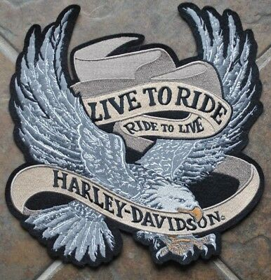 "Harley Davidson ""Live to Ride"" Collectible Patch"