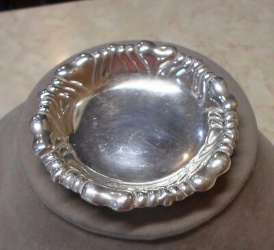 """Antique TIFFANY & Co. Sterling Silver Butter Dish 3"""" 925-1000 28 Grams"""