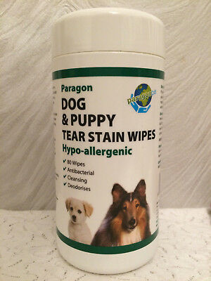 Dog And Puppy Tear Stain Hypo Allergenic Antibacterial Eye Wipes