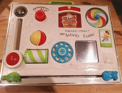 Fisher Price 1970's Vintage Activity Centre with cot attachment.