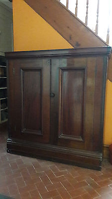 Antique Victorian Mahogany Bookcase / Cupboard With 2 Doors