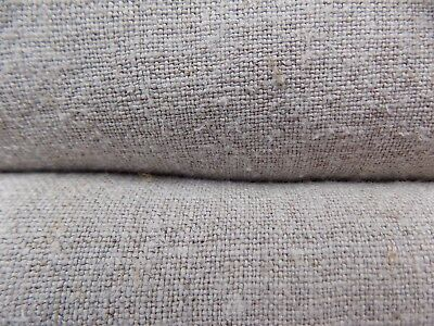 Two pcs antique Raw Hemp Fabric 5+4x0,65m 19thC color Gray Great condition