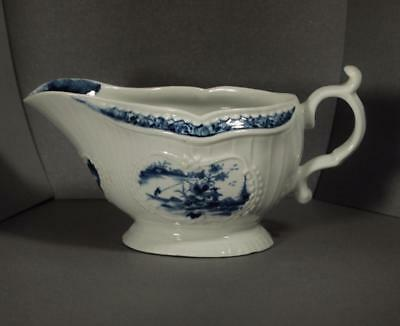 First Period Worcester Molded Sauceboat C.1758-1765