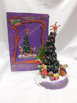 """2002 Dept. 56 """"welcome Christmas"""" Lighted Tree From """"how The Grinch Stole Xmas"""""""