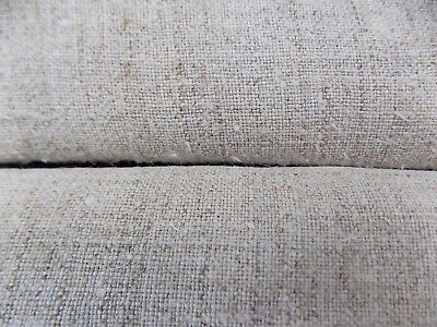 Two pcs antique Raw Hemp Fabric total 5,1x0,65m 19thC Light Gray Great condition
