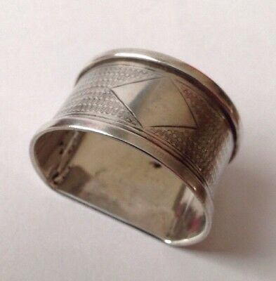 Quality Antique Jubilee Hallmarked 1935 Solid Silver Napkin Ring Blank Cartouche
