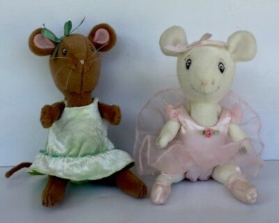 """American Girl Angelina Ballerina and Friend Alice Mouse Stuffed Posable 10"""" Doll"""