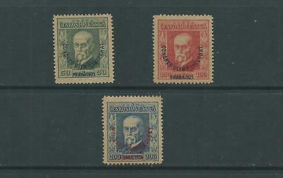 Czechoslovakia 1925 Olympic Congress SG246-48, mnh. Cat.£60++.