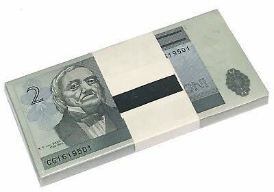 Estonia 2 Krooni 1992 P 70 Unc Bundle Of (100 Notes)