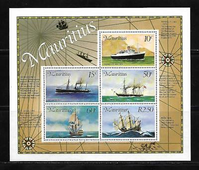 (19516) Mauritius Souvenir Sheet 1976 Mail Carries Unused
