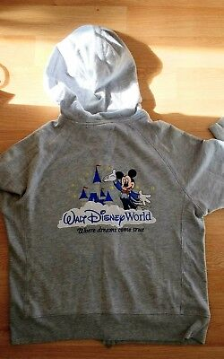 Walt Disney World Zip Up Hoodie Size XL Mickey Castle Logo